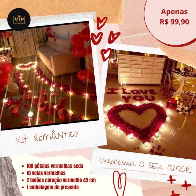 Kit romântico/Dia dos namorados/surpresa/jantar romântico