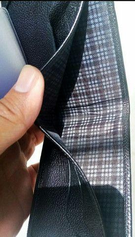 Carteira de couro legítimo slim No atacado  - Foto 5