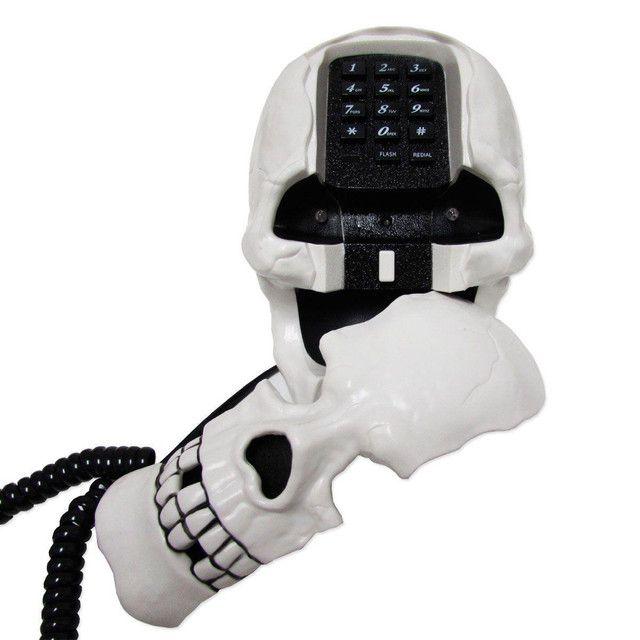 Telefone de caveira c/ fio - Foto 2