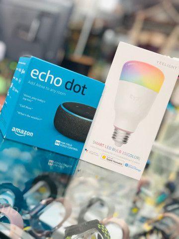 Kit echo dot + lâmpada inteligente