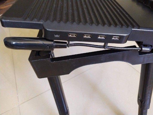 Mesa para Notebook com Luminária Led e Hub Usb - Foto 6