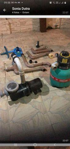 Venda de motor de piscina com bomba de água e  acessórios para estalacao  - Foto 2