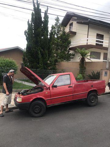 Pick-up Fiat Fiorino 1988 vermelha  R$7500.00 troco por moto maior valor