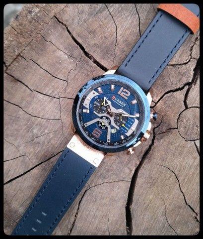Relógio Masculino Curren Pulseira de Couro - Foto 2