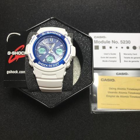 Casio G-Shock Original Branco Atomic Solar AWGM100SWB-7A
