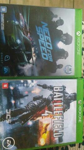 Vendo Need for Speed e Battlefield 4 ótimo estado de conservação