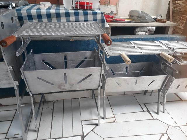 Churrasqueiras desmontáveis alumínio