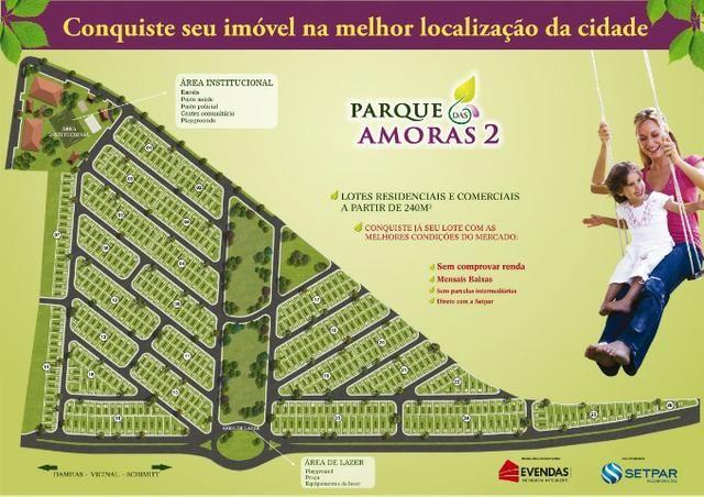Lotes de 242m2 no Amoras 2 em Rio Preto dir com loteadora a prazo liberados p constr