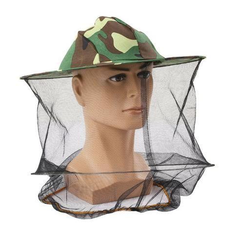 Chapéu De Pescador Camuflado Estilo Militar Com Tela Protetora Contra Mosquitos e Moscas
