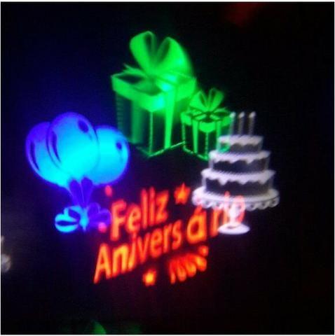 Luminária Espeto Desenhos Holográficos Aniversario Bivolt 5w - Foto 2