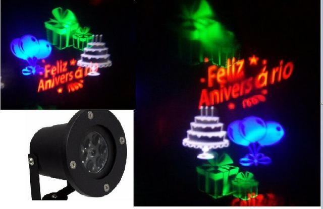 Luminária Espeto Desenhos Holográficos Aniversario Bivolt 5w
