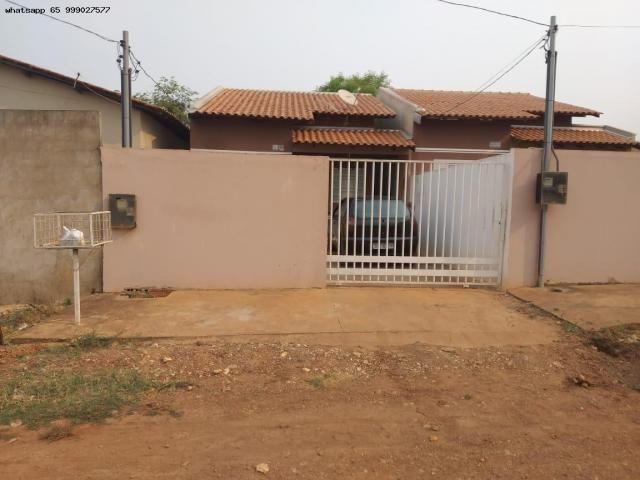 Casa para Venda em Várzea Grande, Canelas, 2 dormitórios, 1 banheiro, 2 vagas