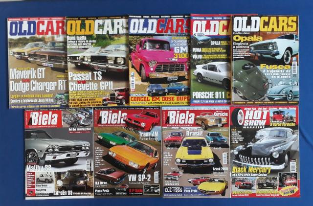 Revistas Old Cars - A Biela- Hot Show Magazine (Lote de 9)