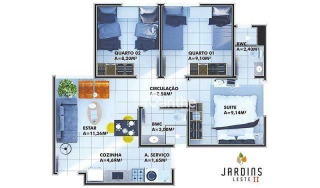 Apartamento com 3 dormitórios à venda, 59 m² por R$ 212.000 - Vale Quem Tem Zona Leste- Te - Foto 10