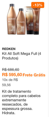 Kit tratamento redken all soft mega  - Foto 5