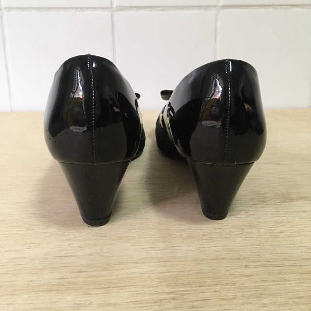 Sapato Peep Toe Salto Médio Preto - Piccadilly - Foto 3