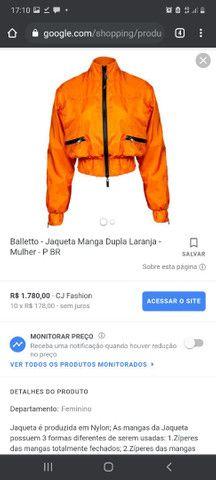 Balletto - Jaqueta Manga Dupla Laranja - Foto 3