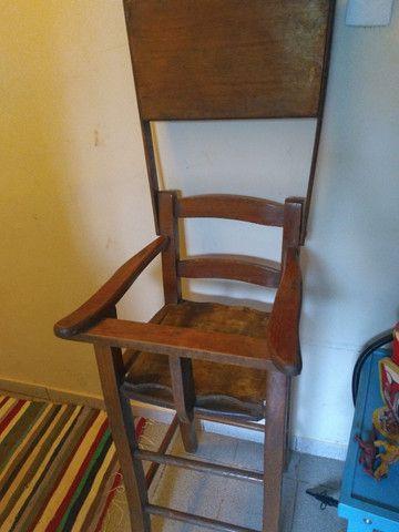Cadeira alimentação de madeira - Foto 2