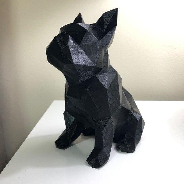 Bulldog Geométrico Decoração