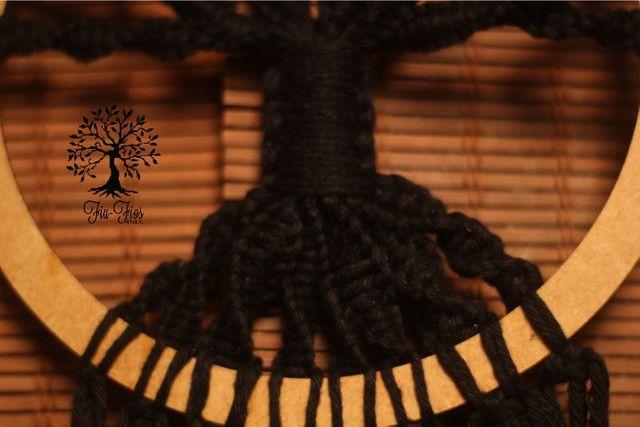 Filtro dos Sonhos em Macramê Árvore da Vida - Foto 4