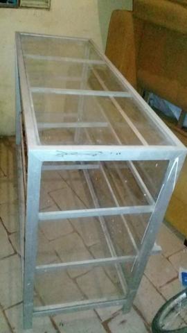 Balcão em aluminio/ Rs 380,00