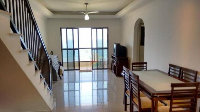 Cobertura com 3 dormitórios para alugar, 256 m² por r$ 5.000/mês - canto do forte - praia  - Foto 7