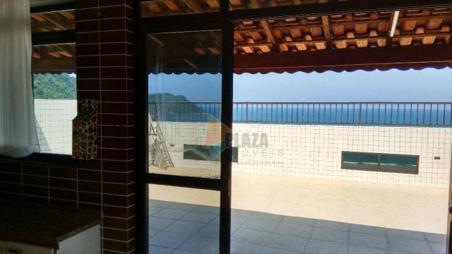 Cobertura com 3 dormitórios para alugar, 256 m² por r$ 5.000/mês - canto do forte - praia  - Foto 6