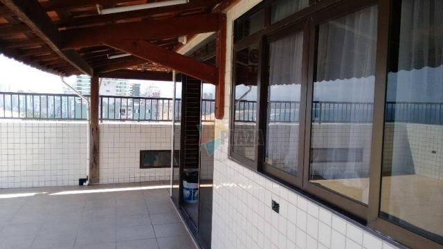 Cobertura com 3 dormitórios para alugar, 256 m² por r$ 5.000/mês - canto do forte - praia  - Foto 4