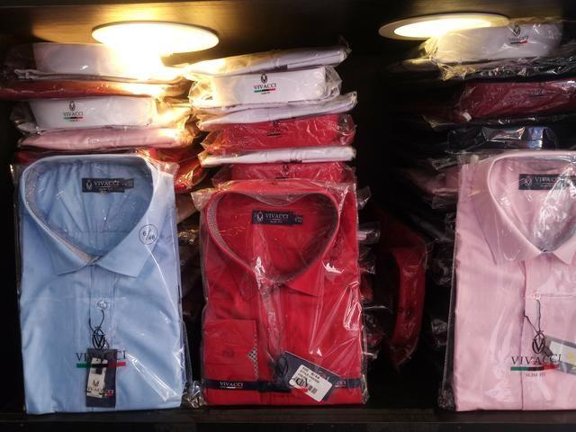Camisa VIVACCI Atacado - Camisa Social Masculina em Atacado - camisas masculinas slim fit - Foto 4