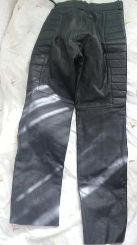 Calça motococlista de couro legitimo (40) - Foto 5