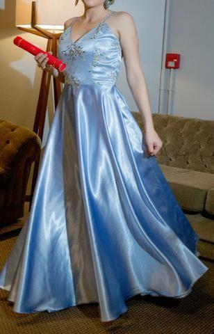 Vestido de Festa Azul - Foto 3