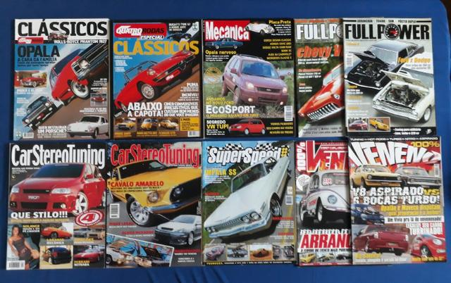 Revistas 100% Veneno - Full Power - Quatro Rodas e Etc (lote de 10)