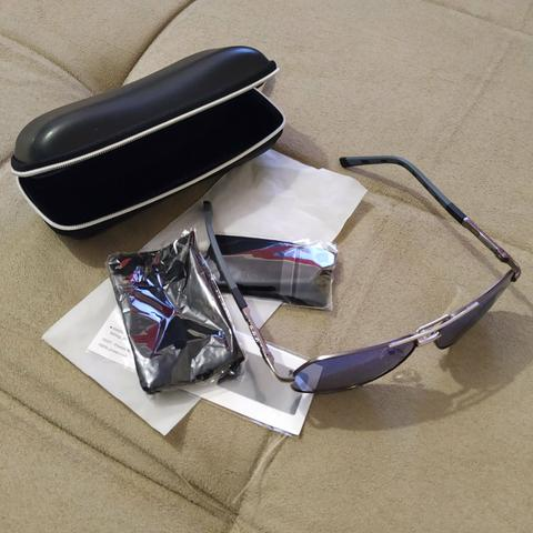 Óculos de sol azul clássico - Foto 3