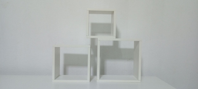 Kit com 3 nichos 100% MDF branco