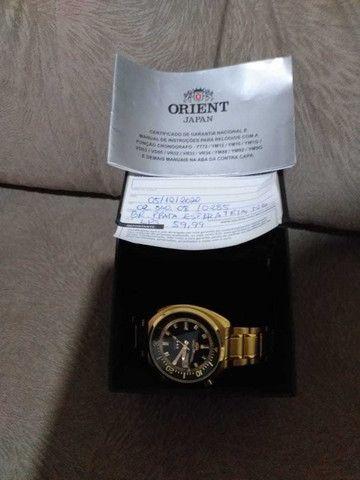 Relógio Orient Dourado - Foto 3