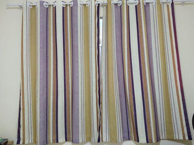 2 Cortinas de tecido estampadas seminovas - Foto 3
