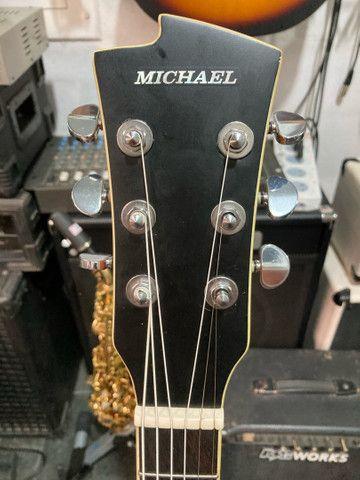 Violão Michael elétrico de aço usado  - Foto 2