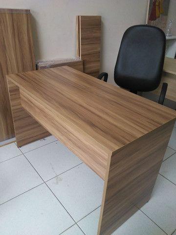 Mesa para escritório em MDF 18 mm Nogal - Foto 2