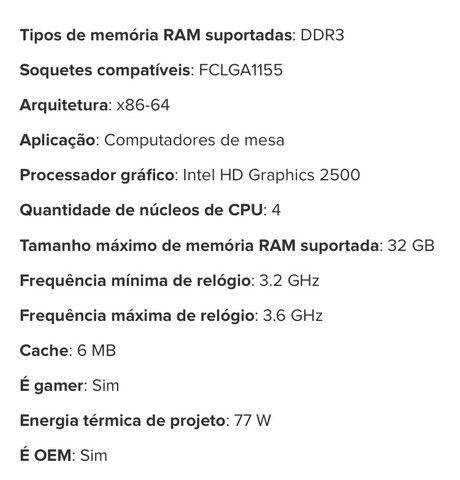 Processador gamer Intel core i5-3470 3.2ghz - Foto 4