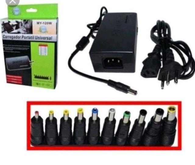 Fonte Universal p/ notebook de 12 a 24 volts - Foto 2
