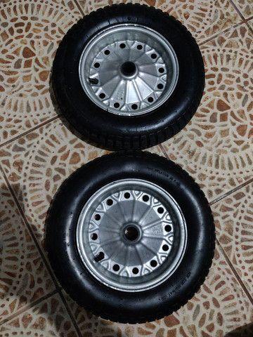 2 rodas para carriola ou carrinho de carga pneu com camara medidas 3.25-8