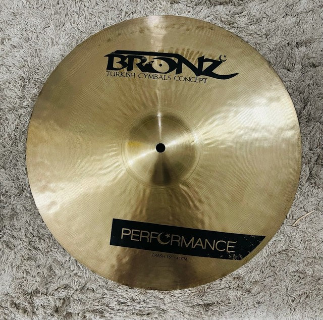 Prato Crash Bronz Performance 16? - Pra Hoje