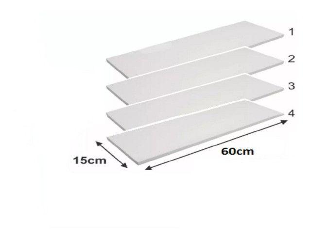 Kit de 4 prateleiras 60x15 Multiuso - Foto 4