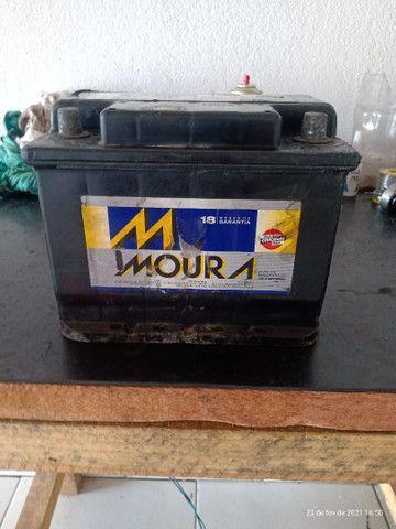Bateria Moura 60 amperes usada 150$ - Foto 3