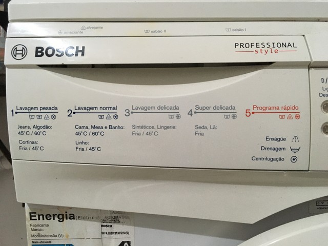 Máquina de lavar profissional Bosch