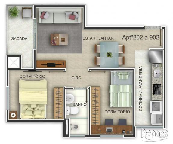 Apartamento à venda com 2 dormitórios em Ideal, Novo hamburgo cod:15322 - Foto 3