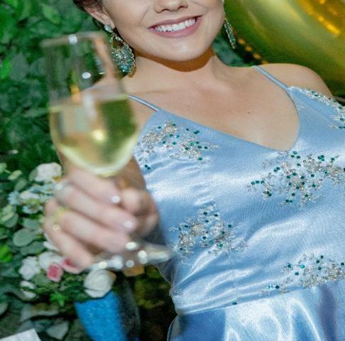 Vestido de Festa Azul - Foto 5