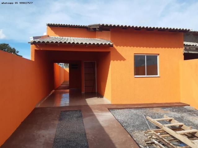 Casa para Venda em Várzea Grande, Novo Mundo, 2 dormitórios, 1 suíte, 2 banheiros, 2 vagas