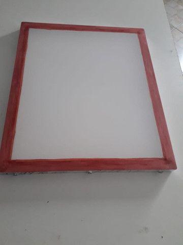 Quadro Serigrafia Aluminio 77 fios 50x60 interno excelente qualidade (analiso propostas - Foto 2