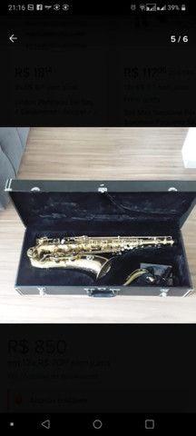 Case Estojo de luxo madeira sax tenor - Foto 3